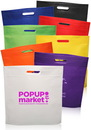 Custom Large Heat Sealed Non-Woven Exhibition Tote, 80 Gsm Non-Woven Polypropylene, 16