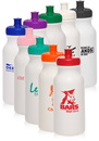 Custom 20oz White Super Value Sports Bottles, Plastic, 7.75