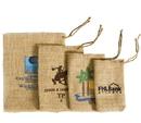 Custom HB810 Pine Cone Jute/Burlap Drawstring Bag, 8