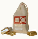 Custom HC570 Natural Cotton Drawstring Bag, 5