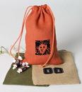 Custom IB610 Colored Jute/ Burlap Drawstring Bag, 6