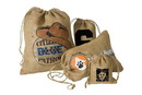 Custom IRB560 Rustler Rough Jute/Burlap Drawstring Bag, Approximate 5