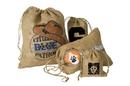 Custom IRB590 Rustler Rough Jute/Burlap Drawstring Bag, Approximate 5