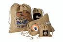 Custom IRB812 Rustler Rough Jute/Burlap Drawstring Bag, Approximate 8