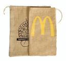 Custom ST1017 Big Stuff Jute/Burlap Drawstring Bag, 10