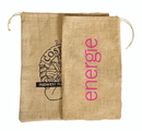 Custom ST1518 Biggie Bag Jute/Burlap Drawstring Bag, 15