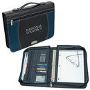 Custom BL3292 Zippered Notepad Binder, Bonded Leather, 14.5
