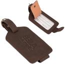 Custom BL8991 Luggage Tag, Premium Bonded Leather, 4.5
