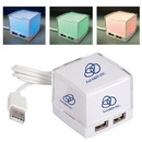 Custom CU6359 Light Up Usb Hub, Abs Usb 2.0 4-Port Hub, 1.875