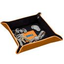 Custom DA4516-C Valuables Valet Tray, Cowhide Leather Desk Tray, 8