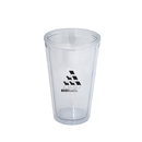 Blank DA8321 500 Ml. (16 Oz.) Double Walled Tumbler With Straw, Double Walled Acrylic Tumbler, 6.25