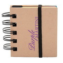 Blank DA8411 Spiral Sticky 250 Sheet Notepad With Noteflags, Recycled Cardboard With Spiral Bound Spine, 2.75
