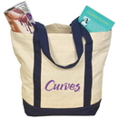 Custom E3000 Two-Tone Tote Bag, 12 Ounce Cotton Canvas, 18