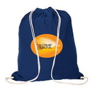 Custom E8429 Cotton Drawstring Bag, 5.5 Ounce Cotton, 14