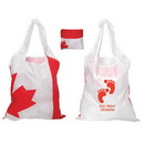 Custom F0701 Folding Canada Tote, Lightweight 190T Polyester, 15