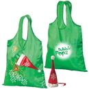 Custom F7347 Holiday Folding Tote, Lightweight 190T Polyester, 14.5