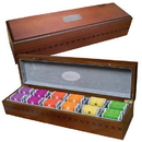 Custom GP3049 Tea Gift Pack, Attractive Birchwood Case, 19