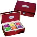 Custom GP3077 Executive Tea Set, Elegant Pinewood Box With Metal Clasp, 9