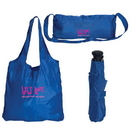Custom GP6349 Folding Tote Bag With Umbrella, Includes Uf518 Umbrella With Folding Tote Bag, 17