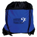 Blank P4028 Drawstring Knapsack, 190T Polyester And 210D Nylon, 14.5