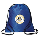 Blank P5036 Drawstring Knapsack, 210D Polyester On Back (Not Shown) And Dobby Polyester On Front As Illustrated, 14.5