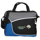 Custom P6552 Business Brief/Messenger Bag, 600D Polyester, 15