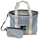 Custom TO4120-C Oversize Tote/Travel Bag, Polycotton Mix With Cotton Lining, 22