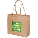Blank TO5299 Large Laminated Paper Shopping Tote, 100 Gsm Mixture Of Paper And Polyester, 15.5