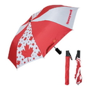Blank UF701 Folding Canada Umbrella, 190T Polyester Material With Red Sleeve, 21