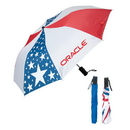Blank UF704 Folding Usa Umbrella, 190T Polyester Material With Navy Blue Sleeve, 21