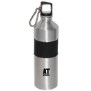 Blank WB4939 750 Ml (25 Oz) Aluminum Sports Water Bottle, Aluminum Body With An 'Easy-Hold' Silicone Grip, 10