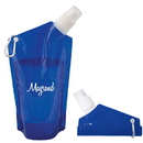 Custom WB8314 Folding 591 Ml. (20 Oz.) Water Bag, Polyethelyne, 5.5