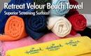 FIEL VTWL60C Colored Velour Twl 30 x 60, 100% Cotton Terry Velour, 12lb/dz