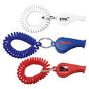 Custom Whistle Coil Key Chain, 2 1/4