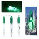 Custom Green Plastic Light Pen, 5 1/4