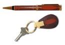 Custom 1218GL - Ibellero Leather Ballpoint Pen and Key Chain