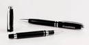 Custom 12213-BK - Perfect Balance Twist Action Ballpoint Pen & Rollerball Pen - Black