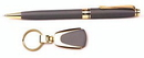 Custom 3618-CHARCOAL - Impella Ballpoint Pen and Keychain Set