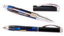 Custom 59913-BLUE - Indulgence Series Ballpoint & Rollerball Set