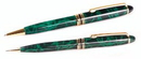 Custom 6012-GREEN-MARBLE - Ineuro Ballpoint Pen & Pencil