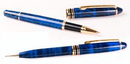 Custom 6023-BLUE-MARBLE - Ineuro Rollerball Pen & Pencil Set