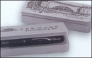 Custom MWB22 - Wood Double Slot Gift Case in Silver Color