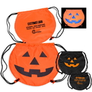 210D Polyester Pumpkin Drawstring Backpack