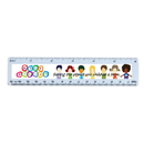 Custom 0266 - Standard 6 Inch Ruler with Full Color Process, 6 3/8