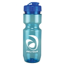 Custom 0317 - 22oz Translucent Bike Bottle with Flip Top Lid, 8 1/2