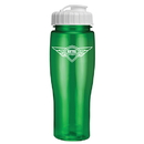 Custom 0370 - 24oz Translucent Contour Bottle with Flip Top Lid, 8 1/4h, 2 3/8