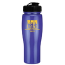 Custom 0379 - 24oz Opaque Contour Bottle with Flip Top Lid, 8 1/4