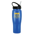Custom 0384 - 24oz Opaque Contour Bottle with Sport Sip Lid, 8 1/4