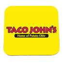 Custom 0754 - Square Coaster 1/8 Black Rubber Backing, 3 1/2