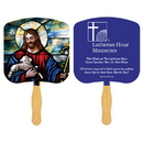 Custom FR101-1 - Religious Jesus The Good Shepherd Spot Color Fan, 7 3/4